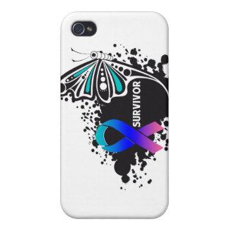 Cáncer de tiroides abstracto de la mariposa del su iPhone 4/4S funda