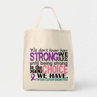 Cáncer de tiroides cómo es fuerte somos bolsa tela para la compra