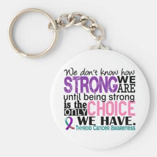 Cáncer de tiroides cómo es fuerte somos llavero redondo tipo pin