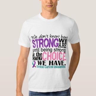 Cáncer de tiroides cómo es fuerte somos remera