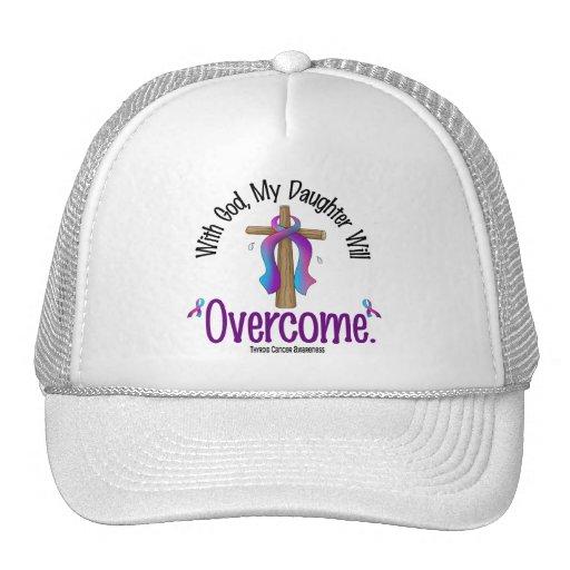 Cáncer de tiroides con dios que mi hija superará gorros