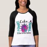 Cáncer de tiroides de combate como un chica 8 camisetas