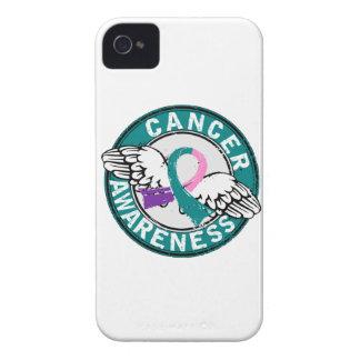 Cáncer de tiroides de la conciencia 14 funda para iPhone 4 de Case-Mate
