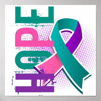 Cáncer de tiroides de la esperanza 2 impresiones