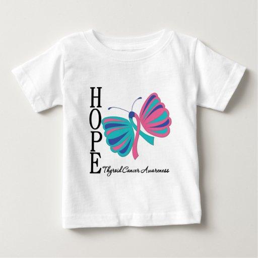 Cáncer de tiroides de la mariposa de la esperanza playeras