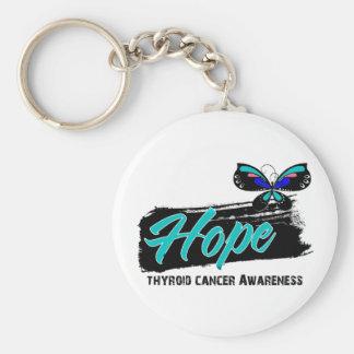 Cáncer de tiroides de la mariposa del tatuaje de l llavero personalizado