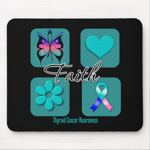 Cáncer de tiroides de las inspiraciones de la fe mousepad