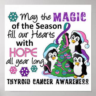 Cáncer de tiroides de los pingüinos del navidad posters