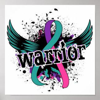 Cáncer de tiroides del guerrero 16 póster