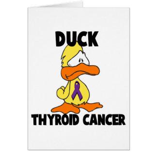 Cáncer de tiroides del pato tarjeta de felicitación