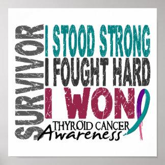 Cáncer de tiroides del superviviente 4 posters