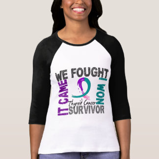 Cáncer de tiroides del superviviente 5 camiseta