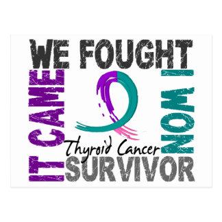 Cáncer de tiroides del superviviente 5 tarjeta postal