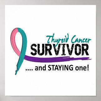 Cáncer de tiroides del superviviente 8 poster