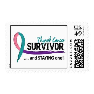Cáncer de tiroides del superviviente 8 sello