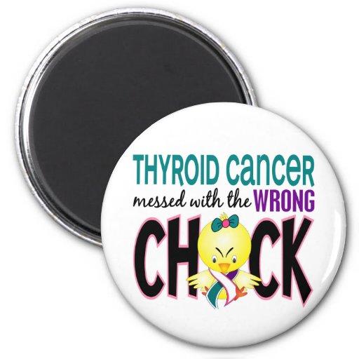 Cáncer de tiroides ensuciado con el polluelo incor imán redondo 5 cm