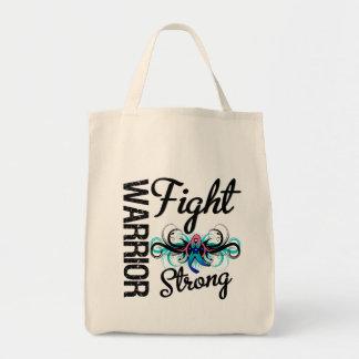 Cáncer de tiroides fuerte de la lucha del guerrero bolsa de mano
