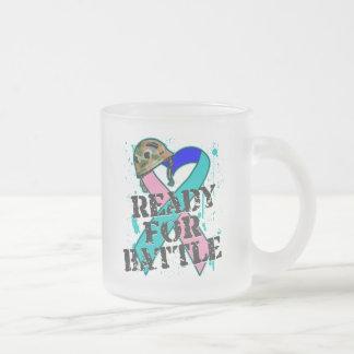 Cáncer de tiroides listo para la batalla tazas de café