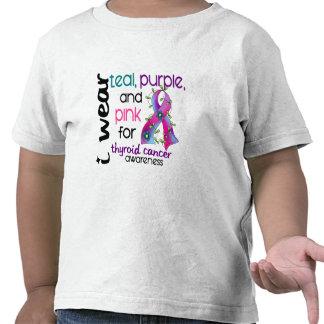 Cáncer de tiroides llevo la cinta para la concienc camiseta
