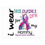 Cáncer de tiroides llevo la cinta para mi mamá 43 tarjetas postales