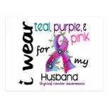 Cáncer de tiroides llevo la cinta para mi marido 4 postales