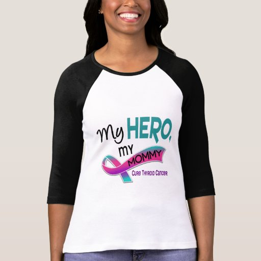 Cáncer de tiroides MI HÉROE MI MAMÁ 42 Camiseta