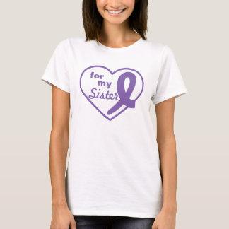 Cáncer de tiroides Purple Heart y personalizar de Playera