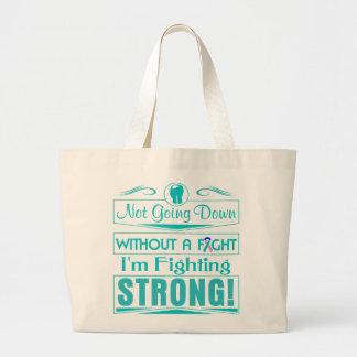 Cáncer de tiroides soy el luchar fuerte bolsa tela grande