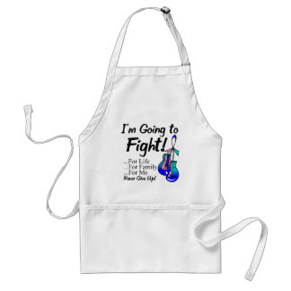 Cáncer de tiroides voy a luchar delantal