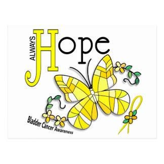 Cáncer de vejiga de la mariposa del vitral tarjetas postales