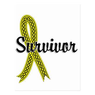 Cáncer de vejiga del superviviente 17 tarjetas postales