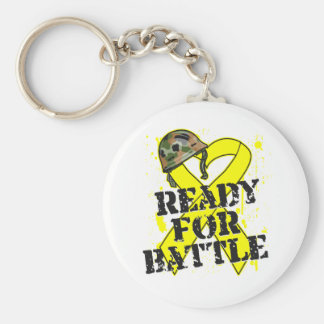 Cáncer de vejiga listo para la batalla llavero personalizado