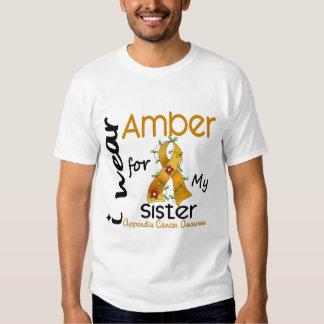 Cáncer del apéndice llevo el ámbar para mi hermana camisas
