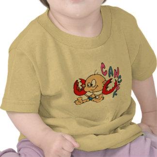 Cáncer del dibujo animado camisetas