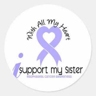 Cáncer del esófago apoyo a mi hermana pegatina redonda