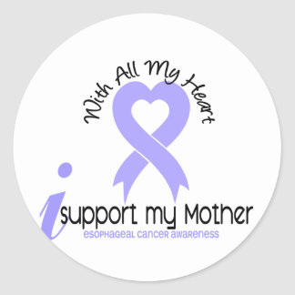 Cáncer del esófago apoyo a mi madre etiquetas redondas