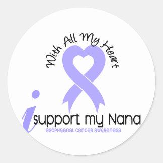 Cáncer del esófago apoyo a mi Nana Pegatina Redonda