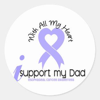 Cáncer del esófago apoyo a mi papá etiquetas redondas