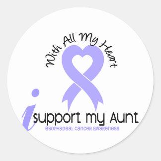 Cáncer del esófago apoyo a mi tía etiqueta redonda