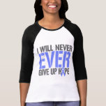 Cáncer del esófago daré nunca nunca para arriba camiseta