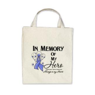 Cáncer del esófago en memoria de mi héroe bolsas de mano