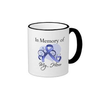 Cáncer del esófago en memoria de mi héroe taza de café
