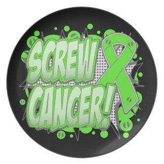 Cáncer del linfoma del tornillo cómico platos