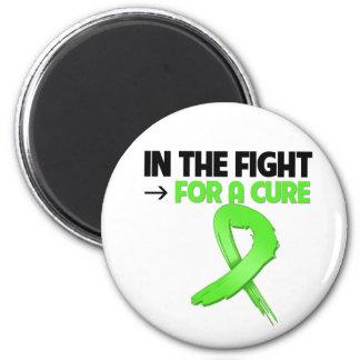 Cáncer del linfoma en la lucha para una curación iman de nevera
