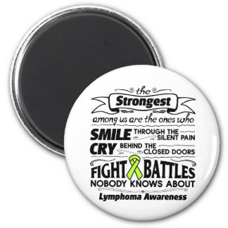 Cáncer del linfoma más fuerte entre nosotros imán redondo 5 cm