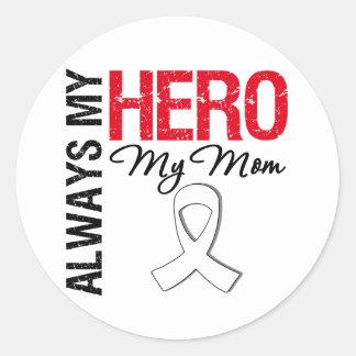 Cáncer del pulmón y de hueso - siempre mi héroe mi etiquetas redondas
