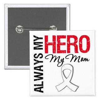 Cáncer del pulmón y de hueso - siempre mi héroe mi pin
