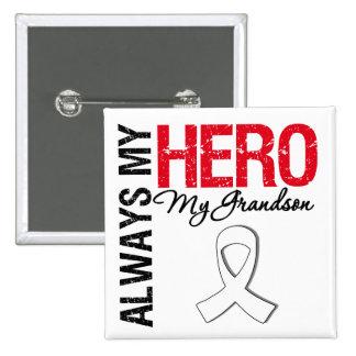 Cáncer del pulmón y de hueso - siempre mi héroe mi pins