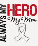 Cáncer del pulmón y de hueso - siempre mi héroe mi camisetas