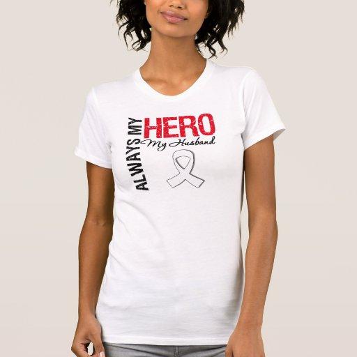 Cáncer del pulmón y de hueso - siempre mi héroe mi camiseta